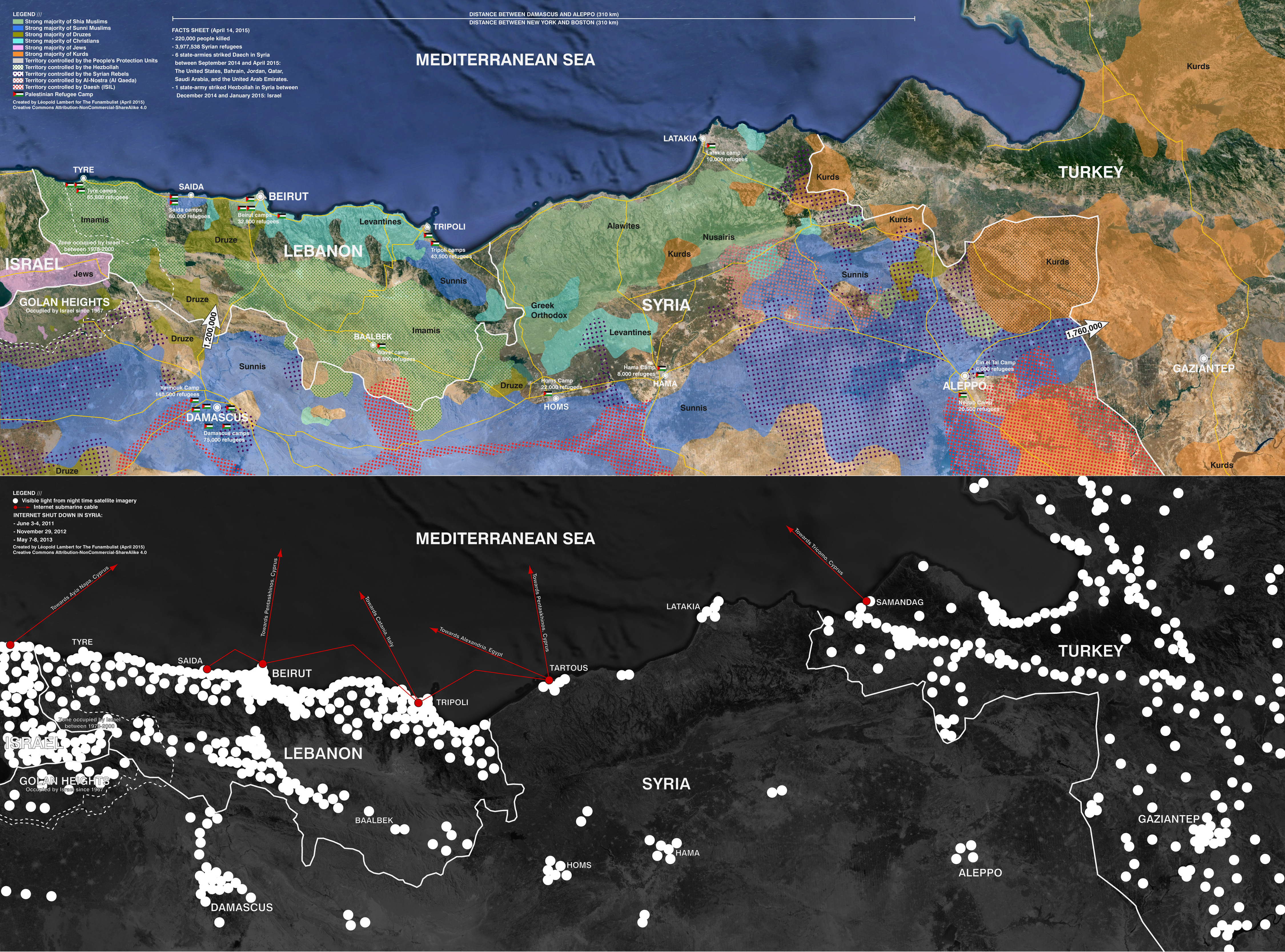 Maps 2015.Maps War In The Levant A Cartographic Tentative The