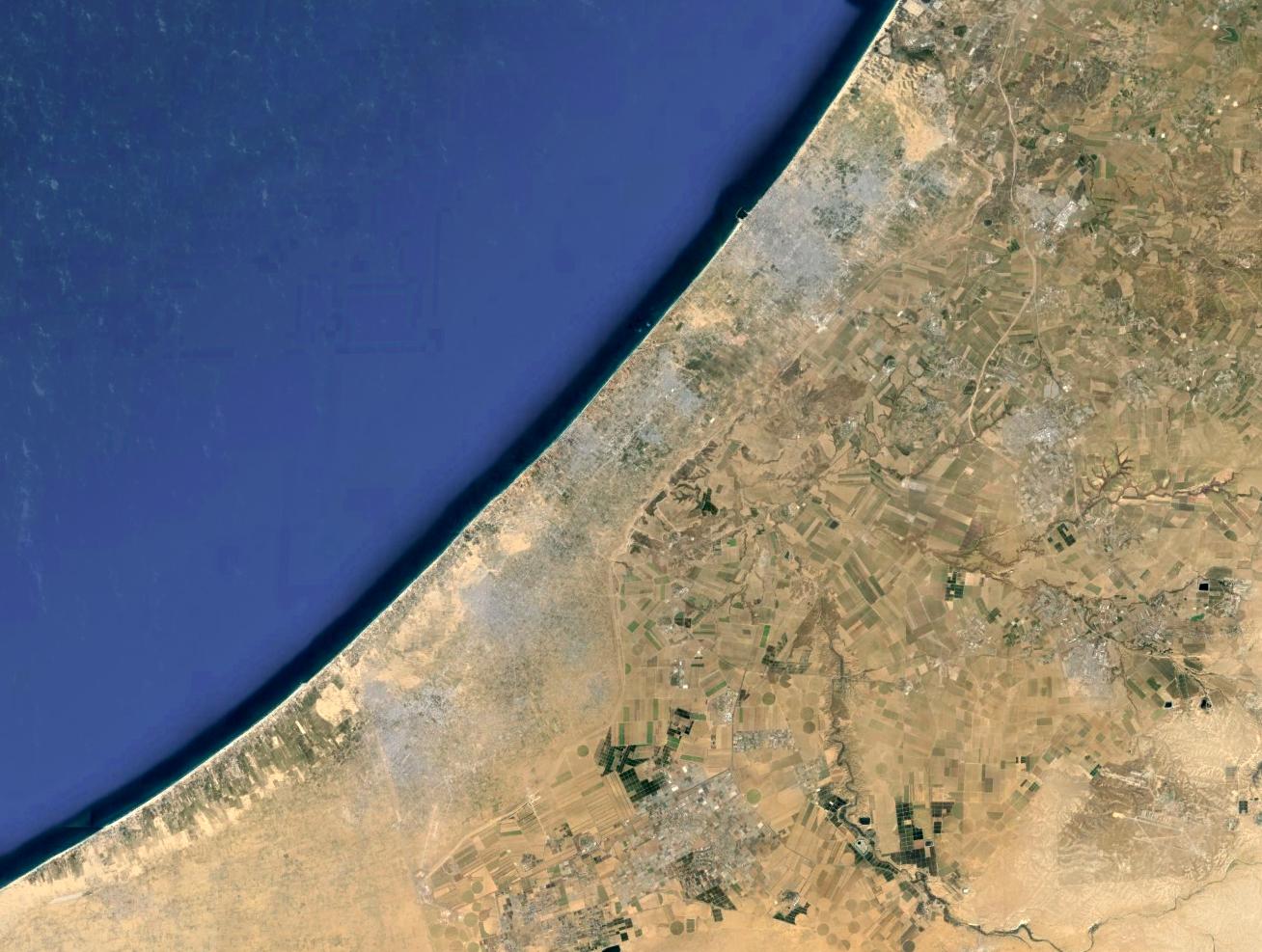 Gaza Strip Google Earth