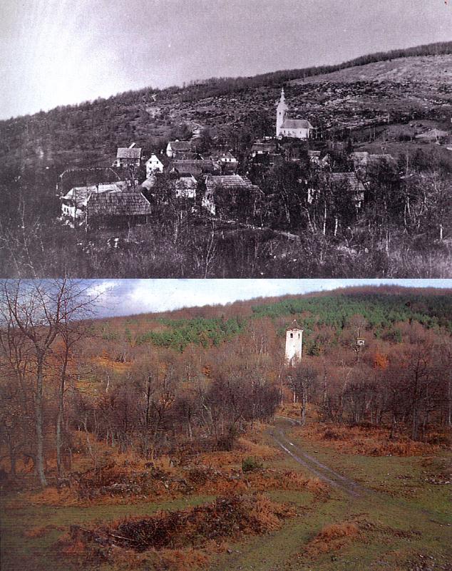 1 Village Dolenja Topla Reber Koƒevsko Before Ww2 And In 1990s