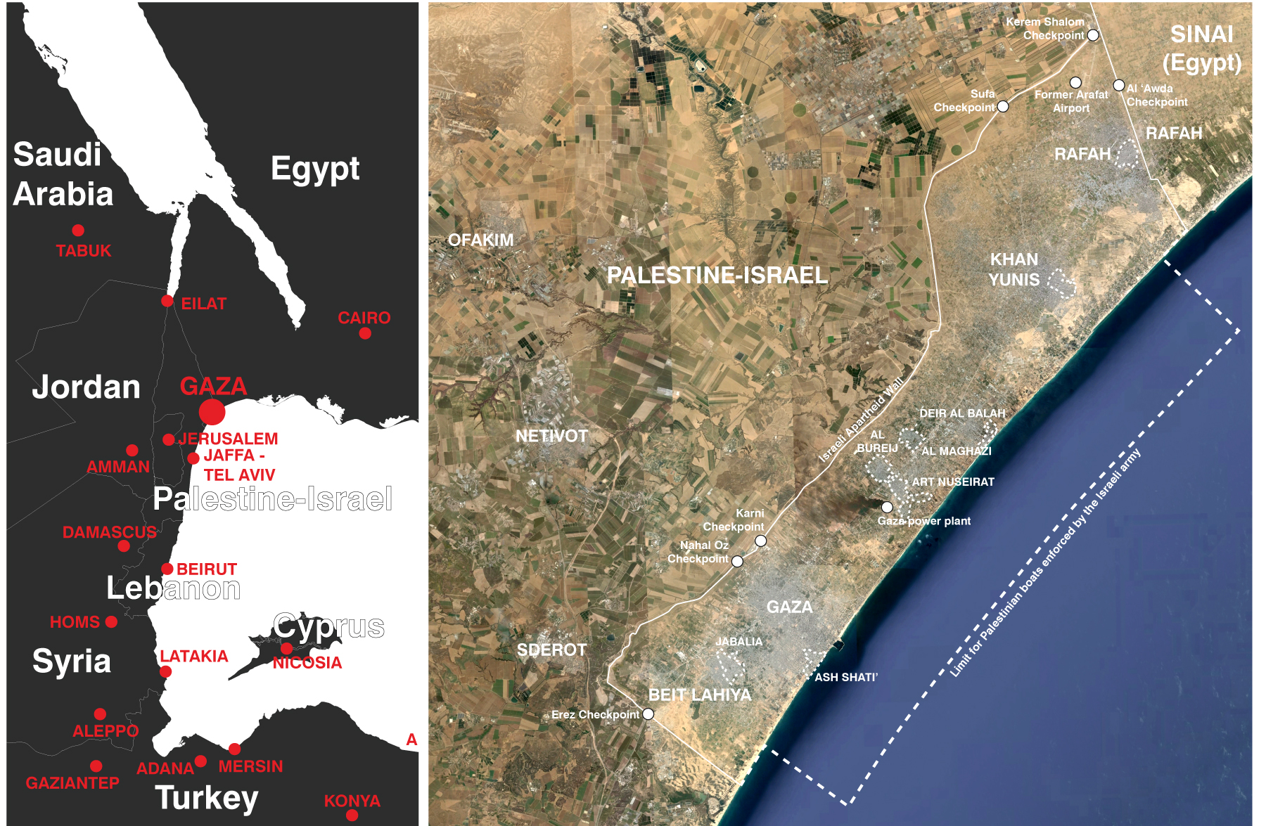 Overview of the Gaza Strip at the