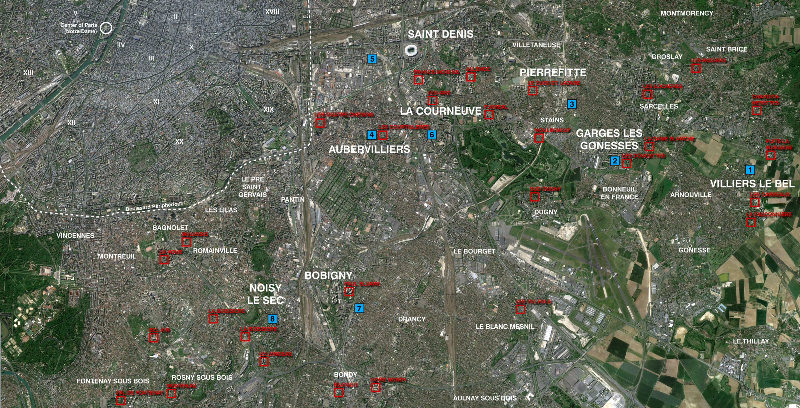 Map Northern Banlieue - The Funambulist 2015