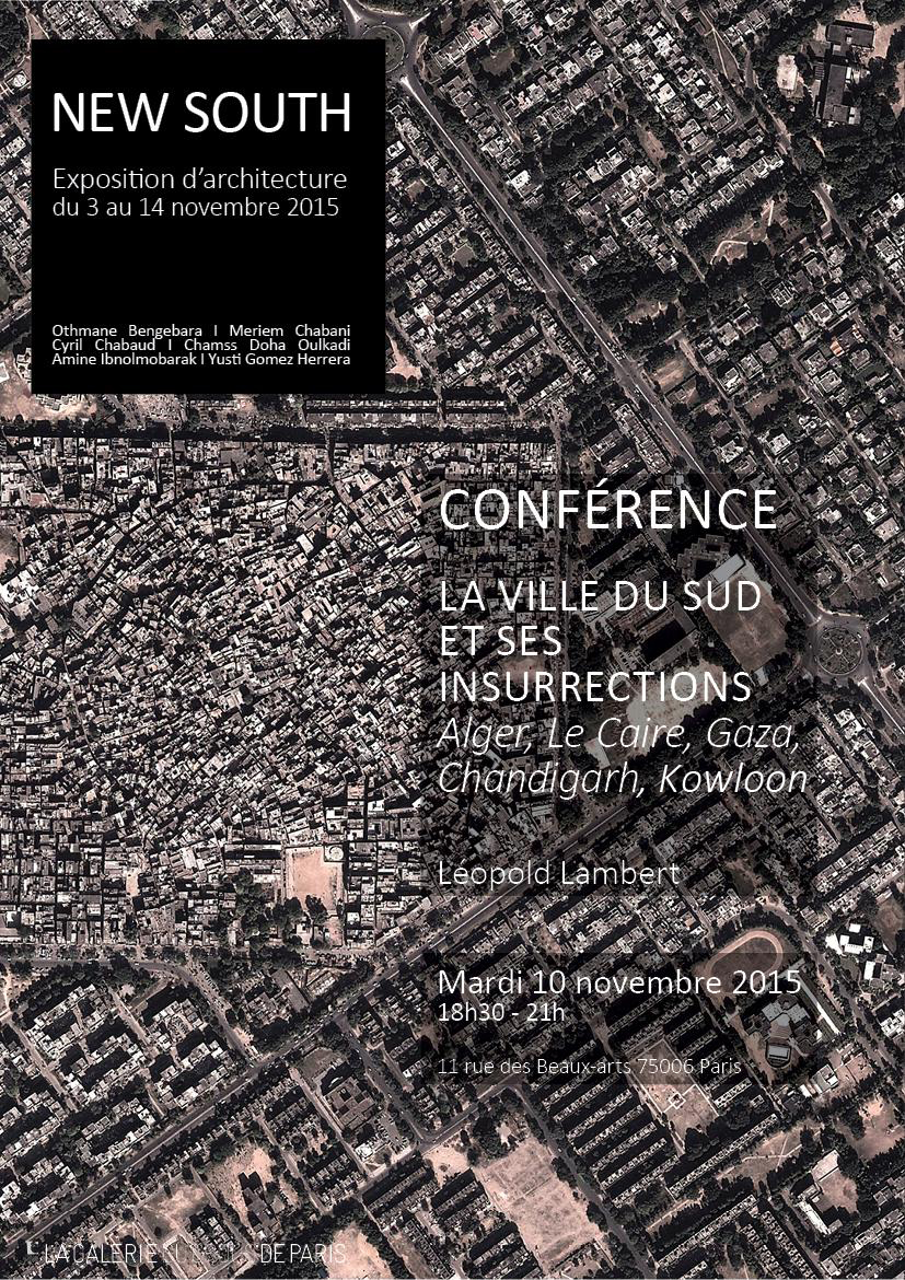 New South - Conference par Leopold Lambert