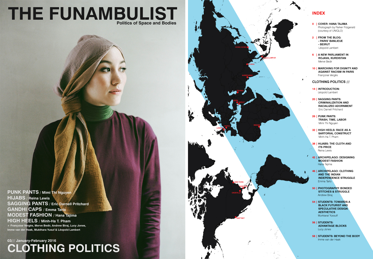 Cover + Index The Funambulist Magazine 3 Clothing Politics