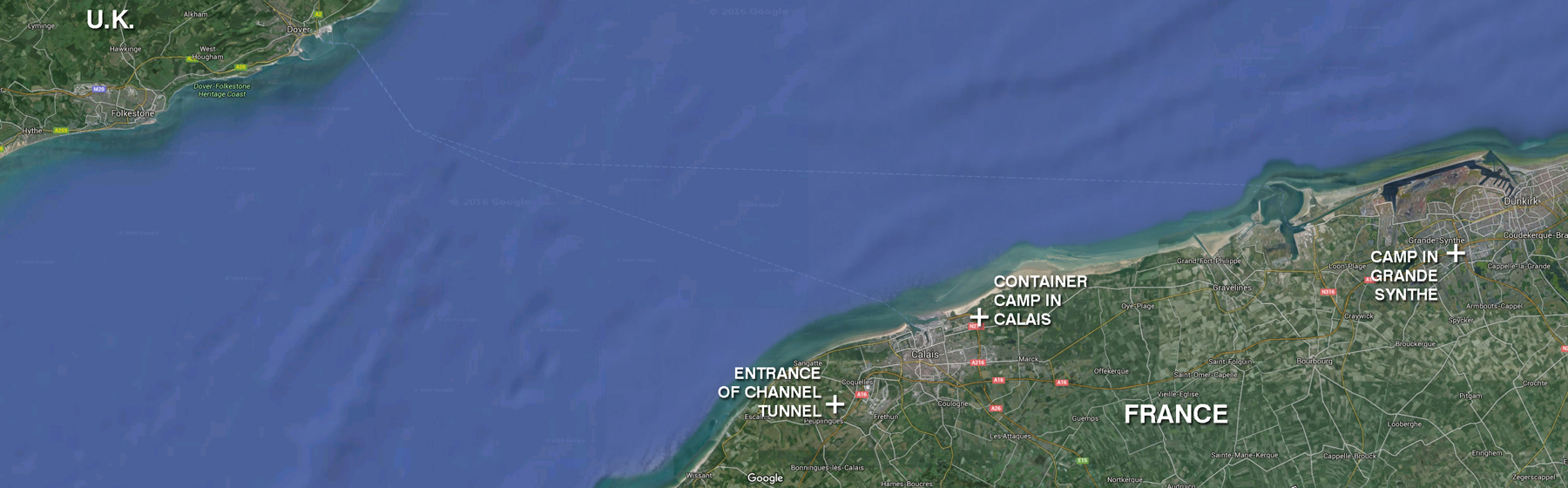 Situation Map Calais Grande Synthe