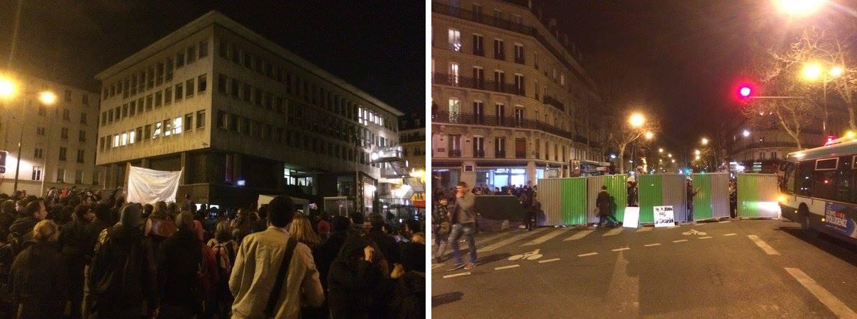 Nuit Debout barricades
