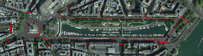 Map Bastille
