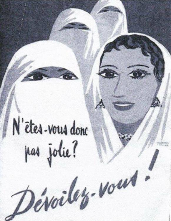 Devoilez vous - Colonial poster